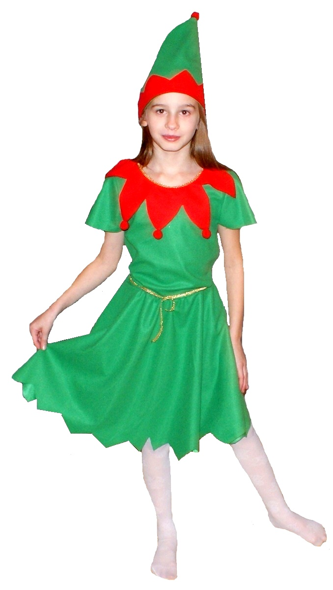 6992a87f2e Strój Elf sukienka elfka kostium skrzat 110 122 - 7025653784 ...