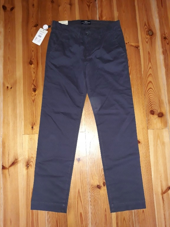 KAPPAHL regular fit męskie granatowe spodnie 30/32