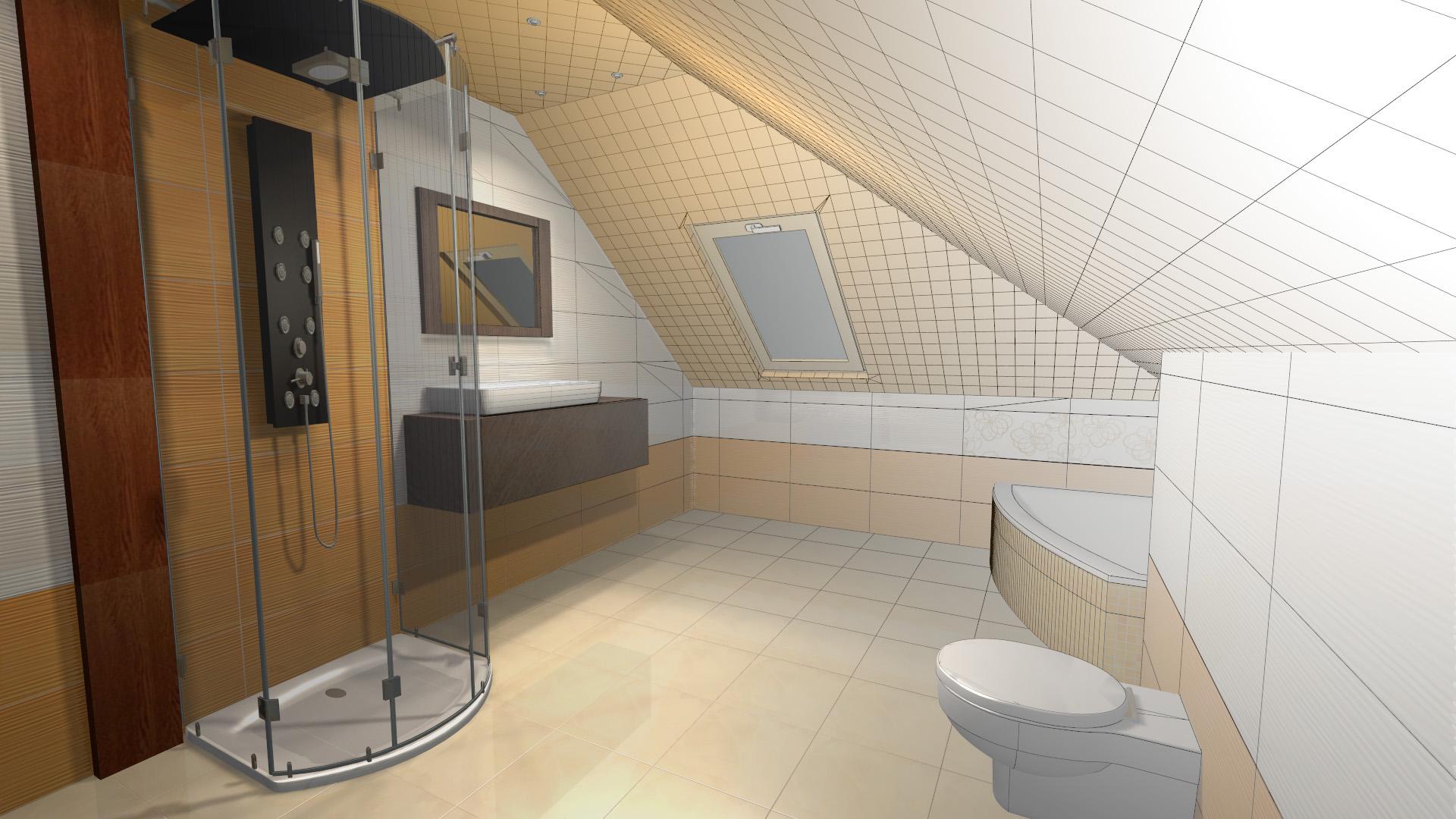 Projekt Aranżacja łazienki 3d Specyfikacja 6704013959