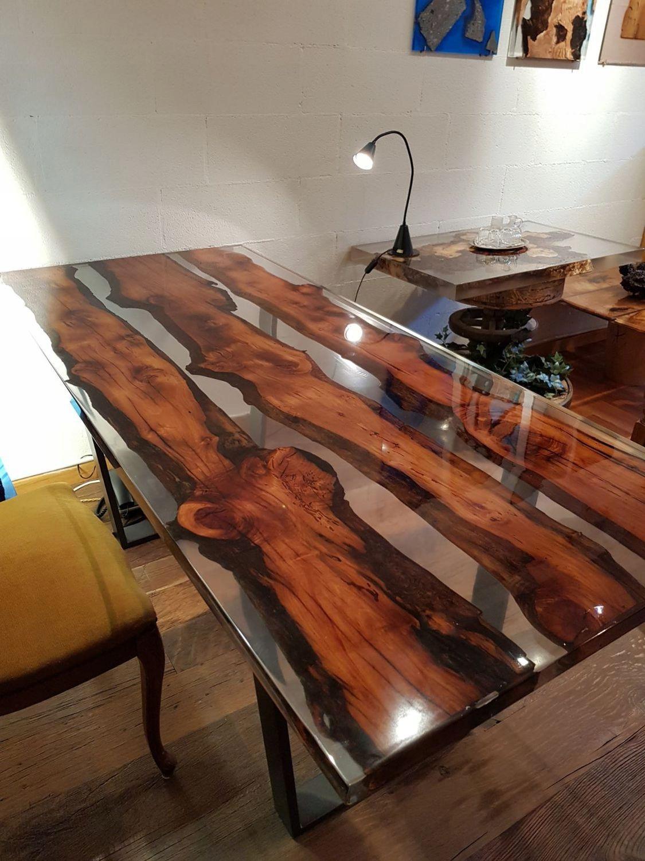 Stolik Stół Drewniany Z Pnia Drzewa I żywicy 7729850794