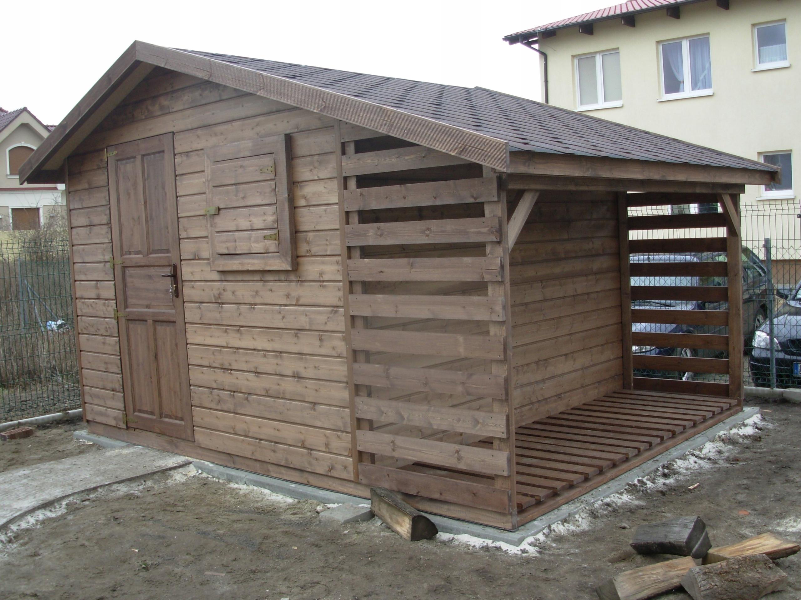 Chwalebne domek narzędziowy drewutnia EMIL z montażem - 7641456165 FU38