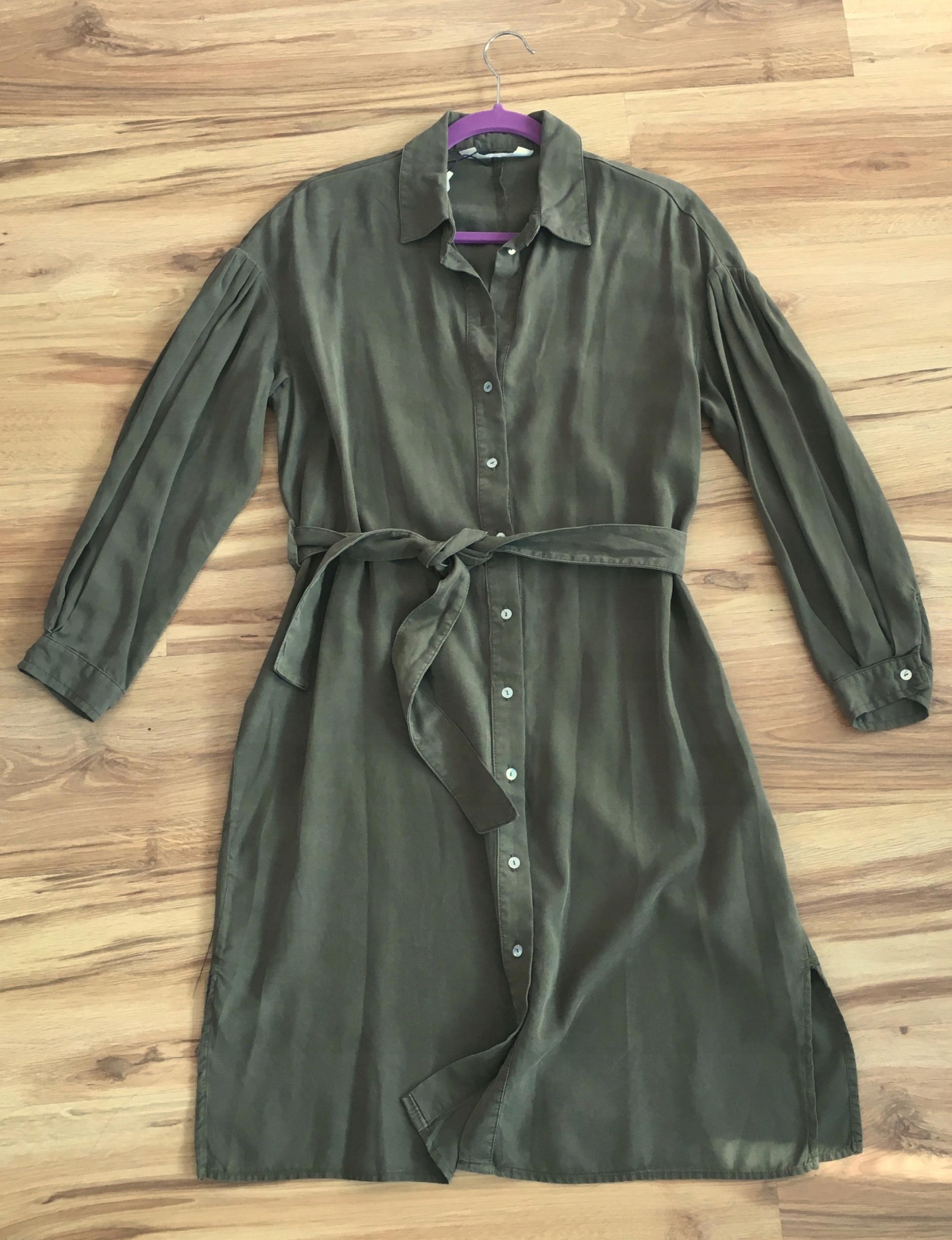 0d694b1553 ZARA luźna sukienka szmizjerka 38 M - 7544098275 - oficjalne ...