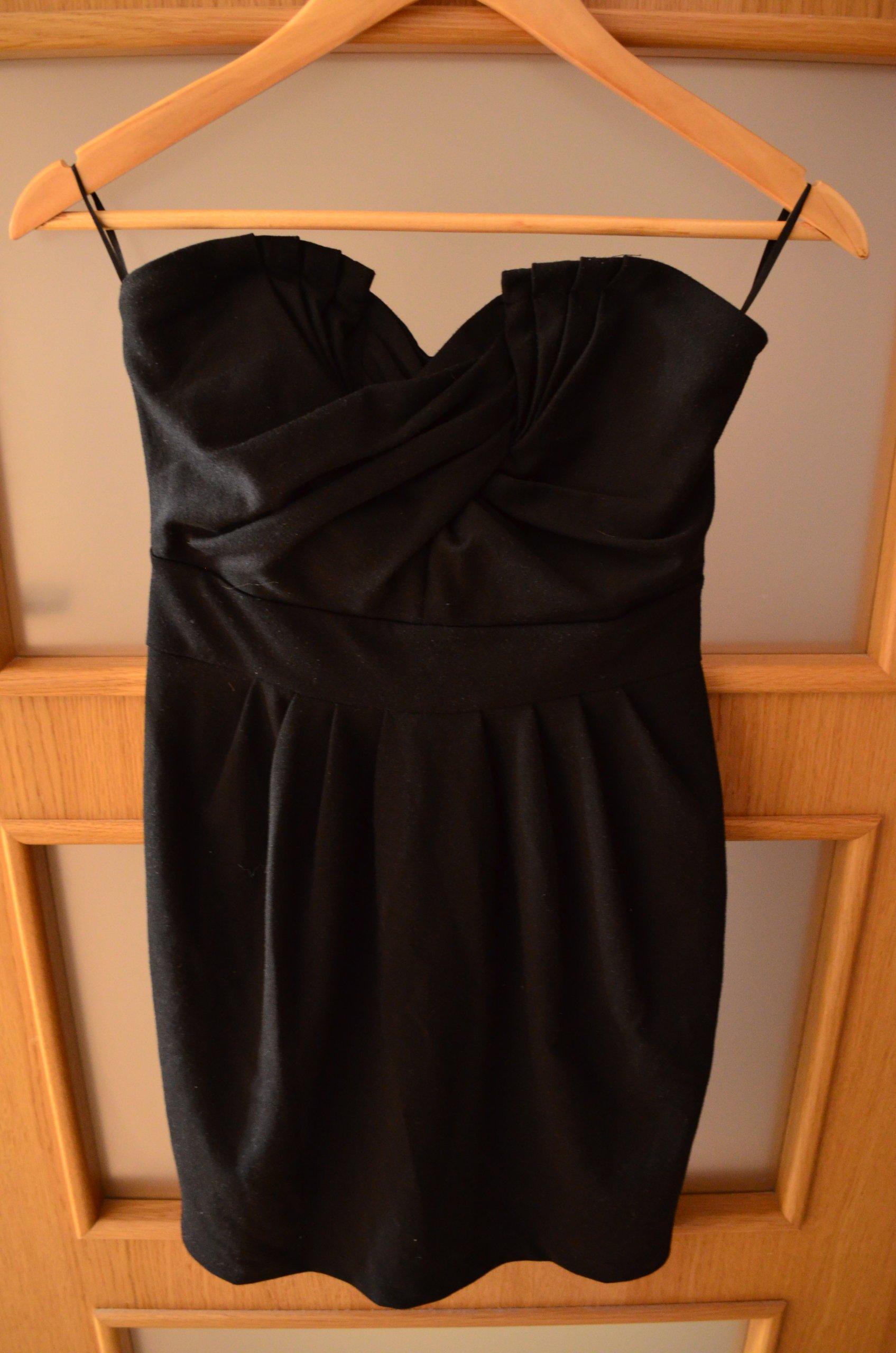f4070ff40c H M sukienka czarna bez ramiączek tuba 36 S - 7352297977 - oficjalne ...