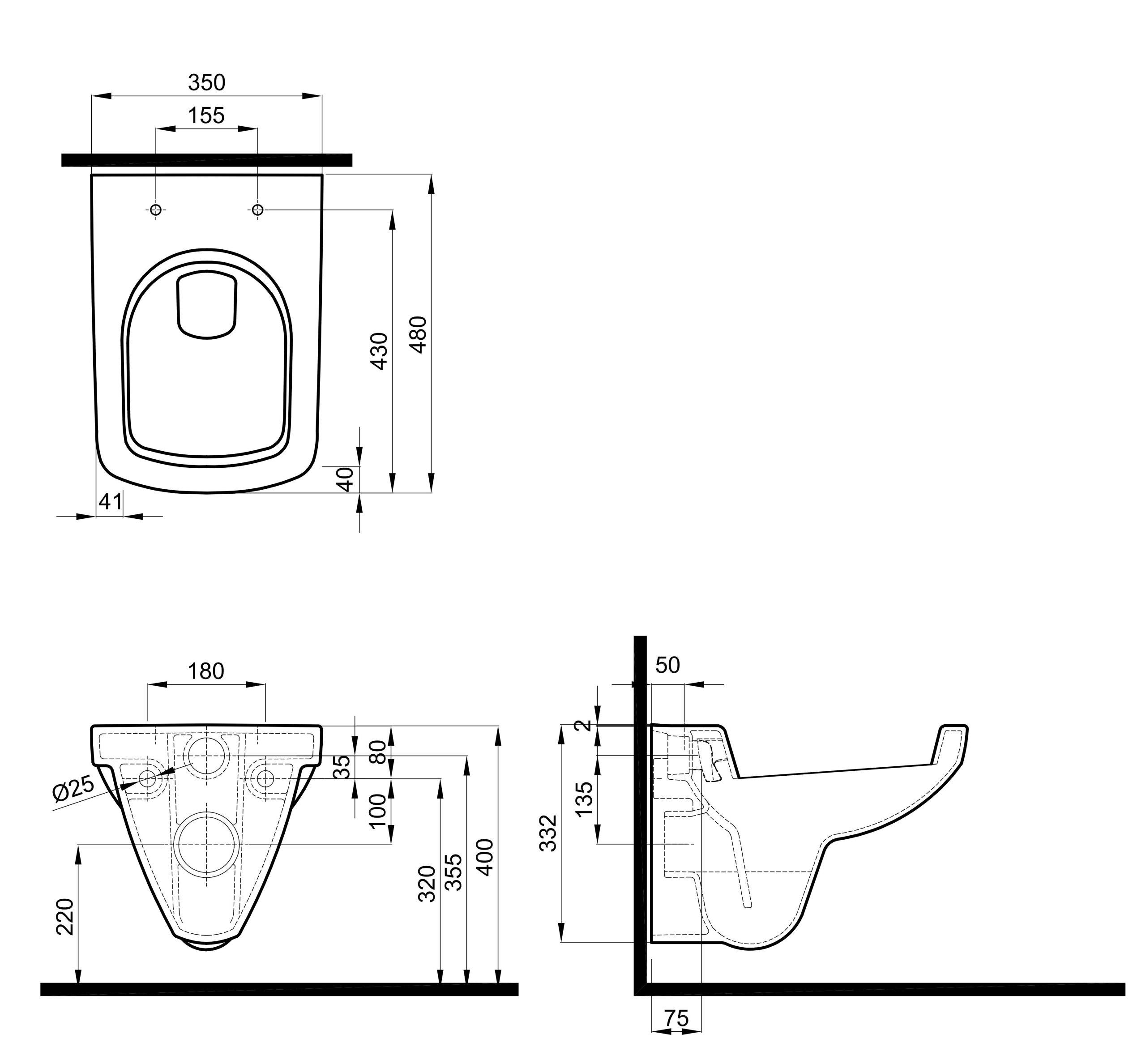 Koło Miska Wc Wisząca Krótka Małej łazienki M33104