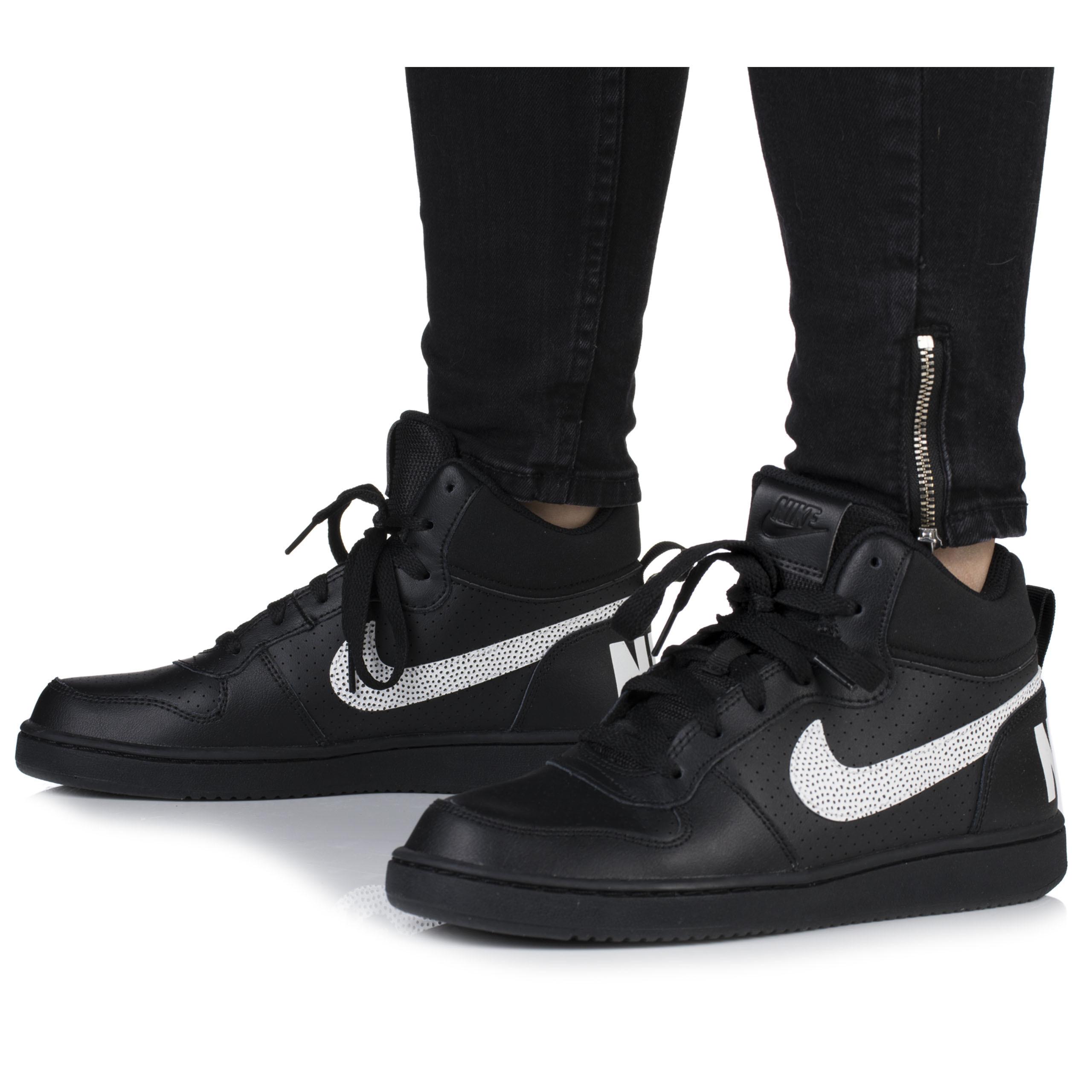 3a93ea35 Buty damskie Nike Court Borough czarne za kostkę - 7199816653 ...