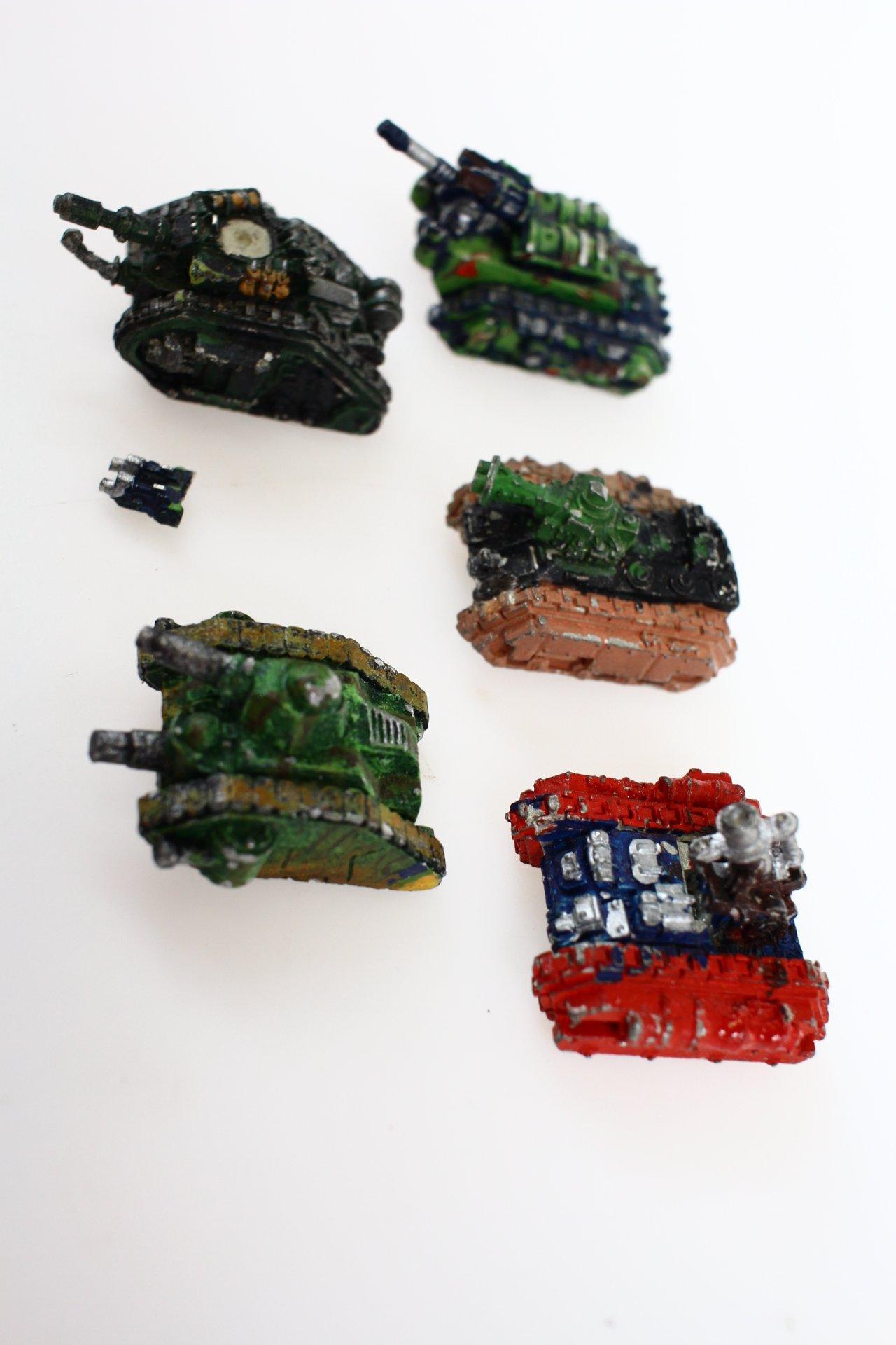 Epic 40k Imperial Guard Tanks 5 figurek metal - 7183067355