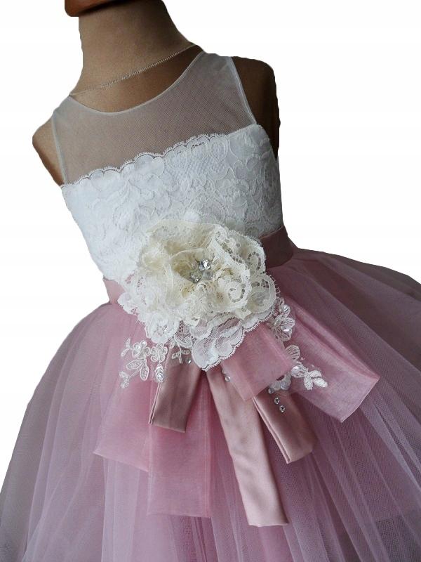 28d0a89272 Sukienka dziewczęca ALEXIA wesele wizytowa 128 134 - 7446965772 ...