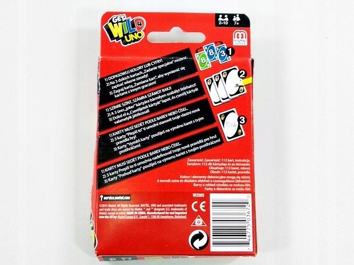 Mattel Gra Karciana Karty Uno W2087 7582111574 Oficjalne