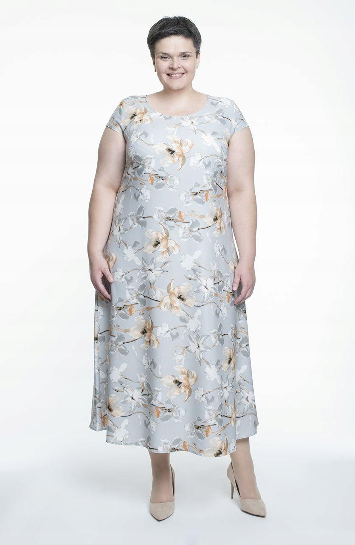1c70cf4c8b Długa lekka sukienka w odcieniach szarości 56 - 7429259192 ...