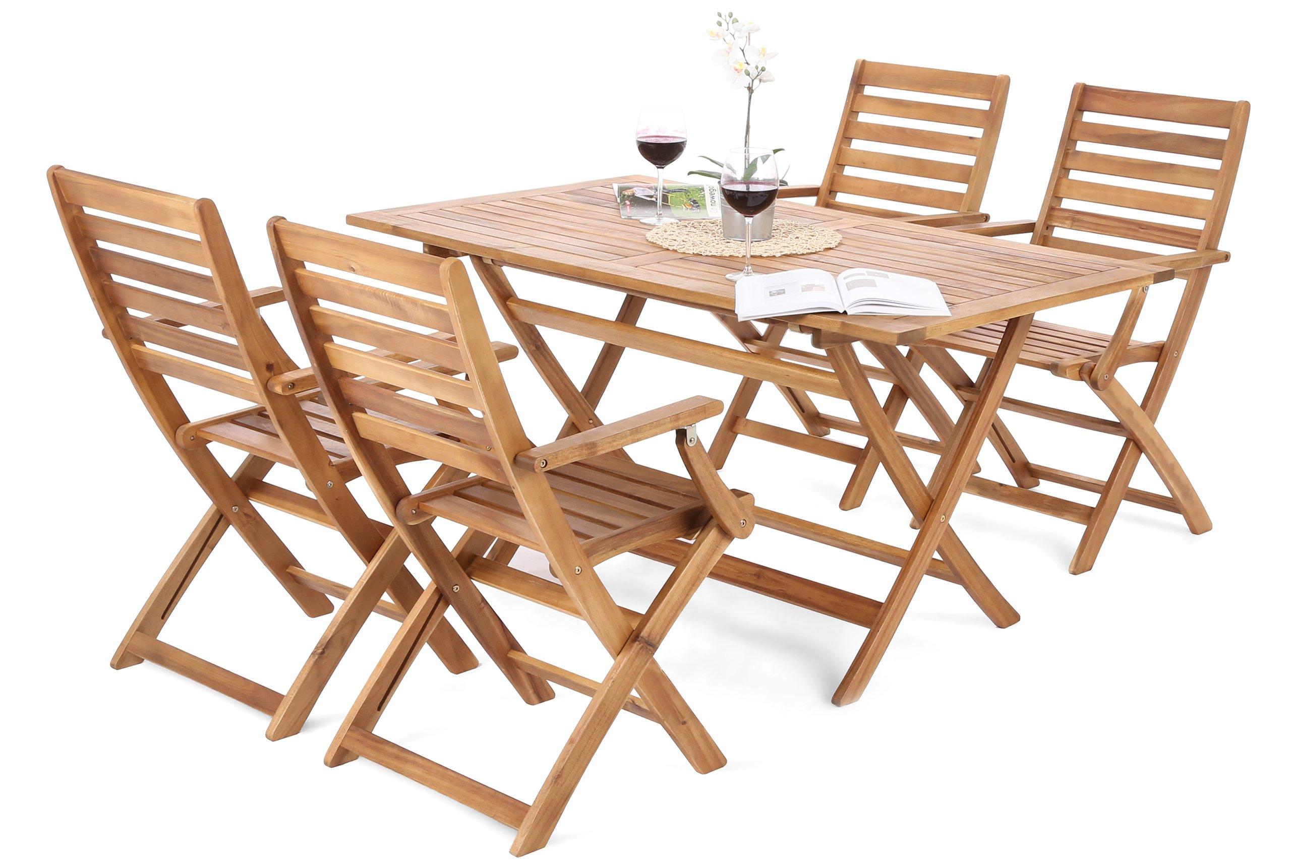 Meble Ogrodowe Drewniane Zestaw Ogrodowy Taras 6750758535