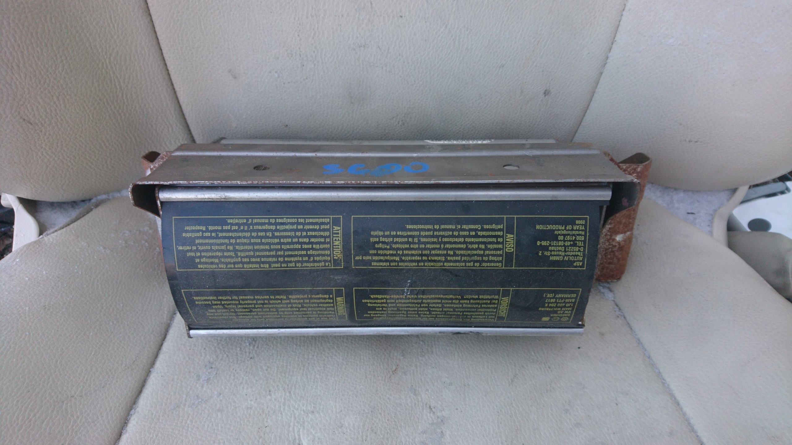 MERCEDES W220 S600 PODUSZKA POWIETRZNA PASAZERA - 7180532018
