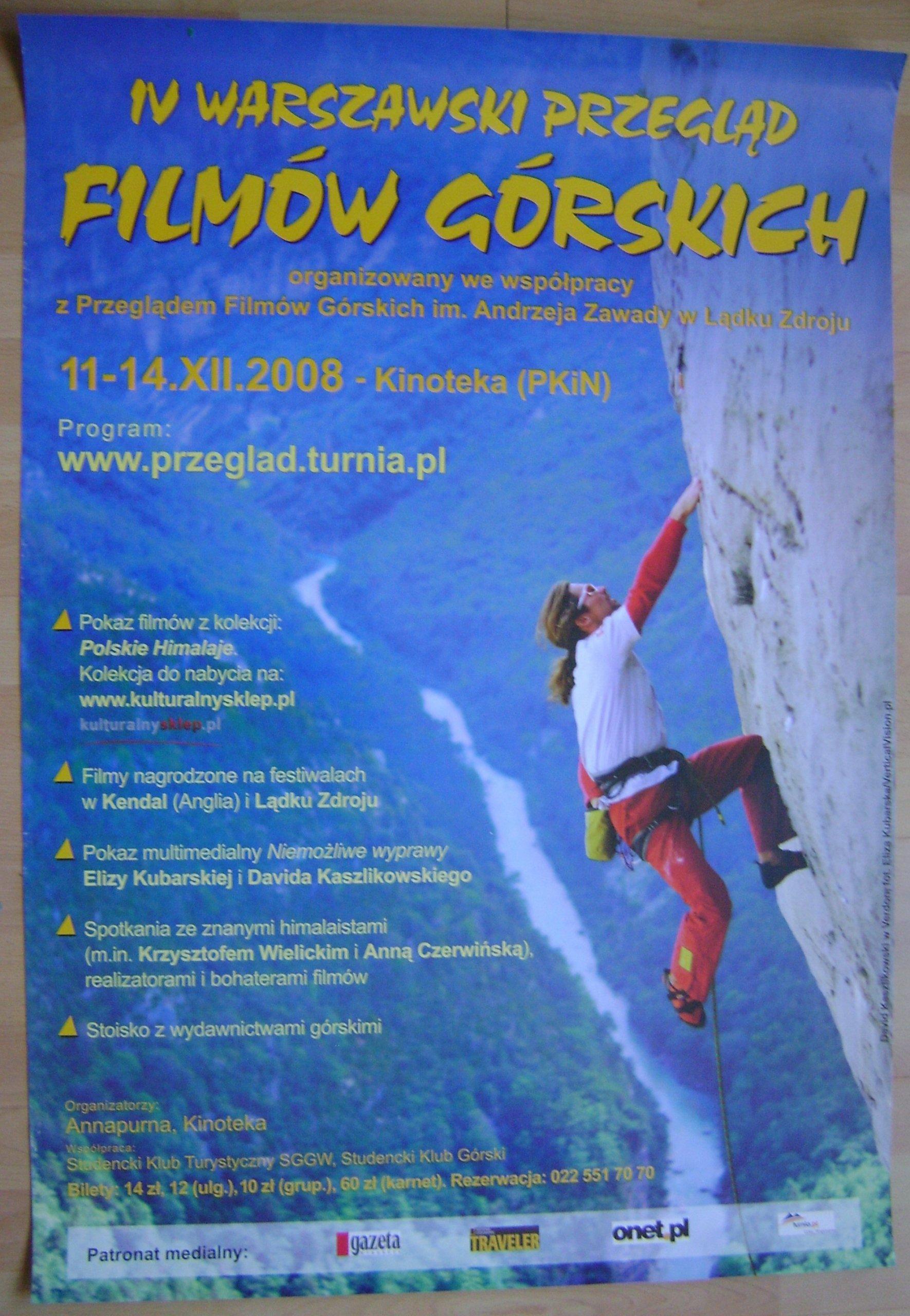 Film Górski Warszawski Przegląd 2008 Plakat 6365909430