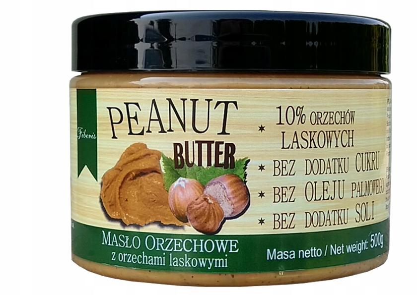 Masło orzechowe laskowe 500g FIBERIS 100% ORZECHÓW