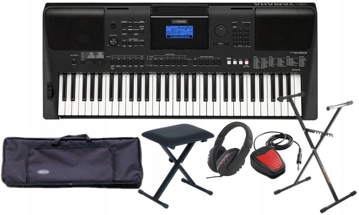 Yamaha Psr E453 Keyboard Klawisz Megapakiet Full 7460352652