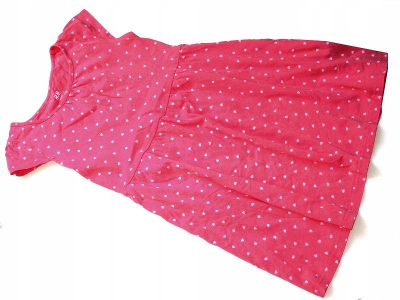 f3681b4919 HM malinowa sukienka tunika serduszka      110 116 - 7440337085 ...
