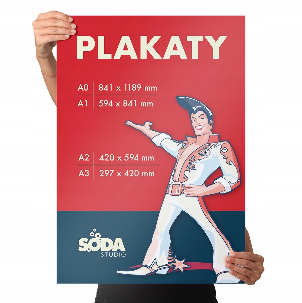 Plakaty A4 A3 A2 A1 A0 plakat B2 B1 B0