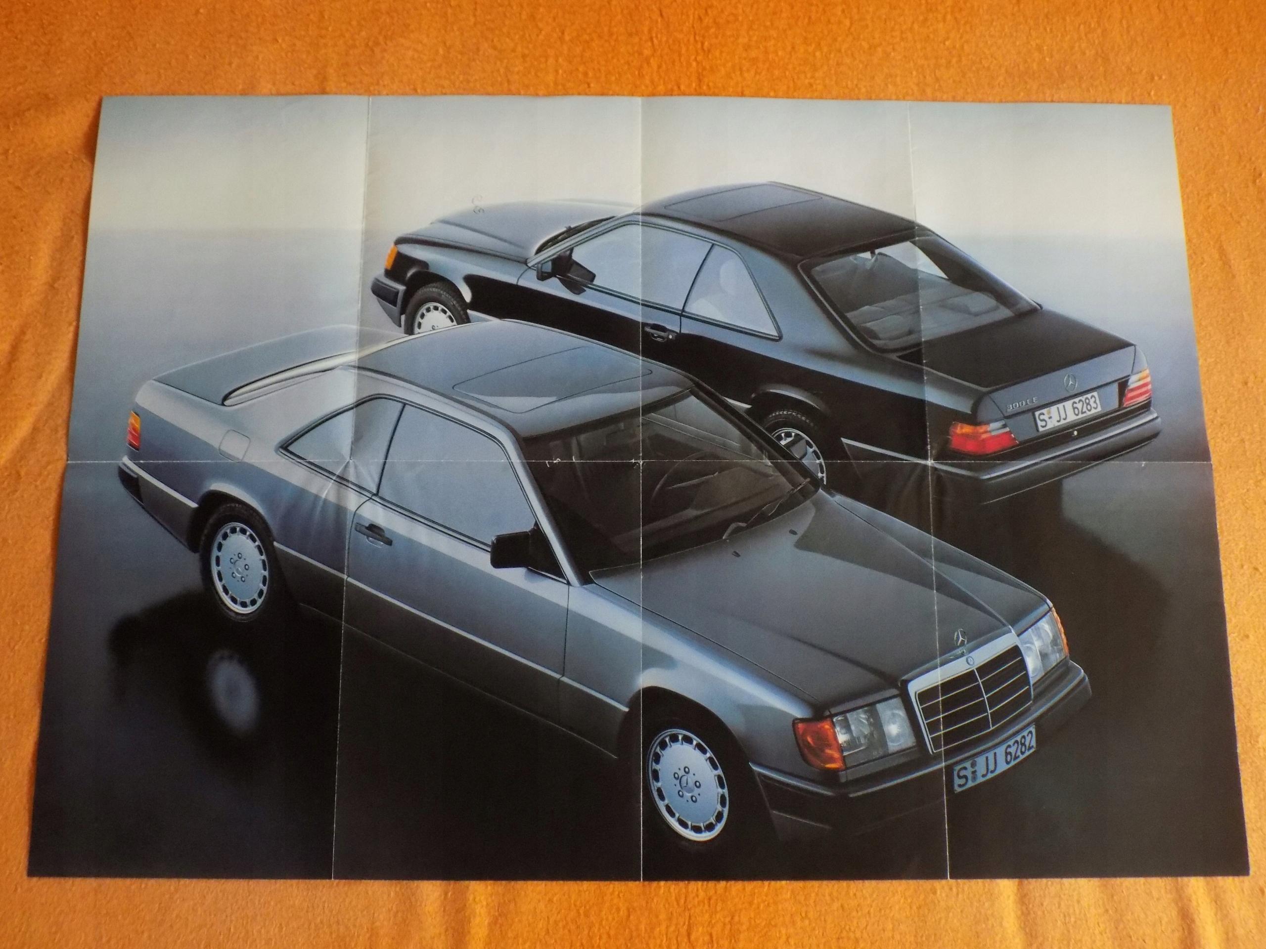 2 X Stare Plakaty Mercedesa Z Lat 80 Tych Duże