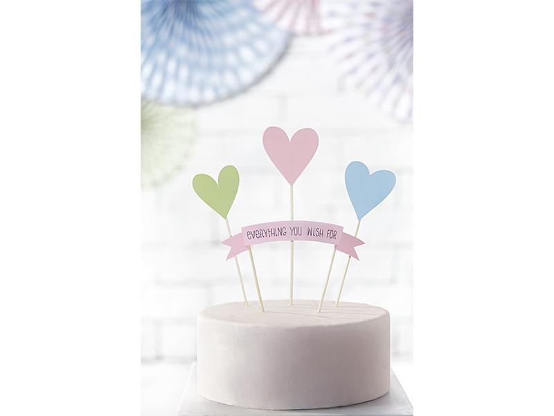 Topper Na Tort Dekoracja Urodziny Pastelowe 4 Szt 7238778024