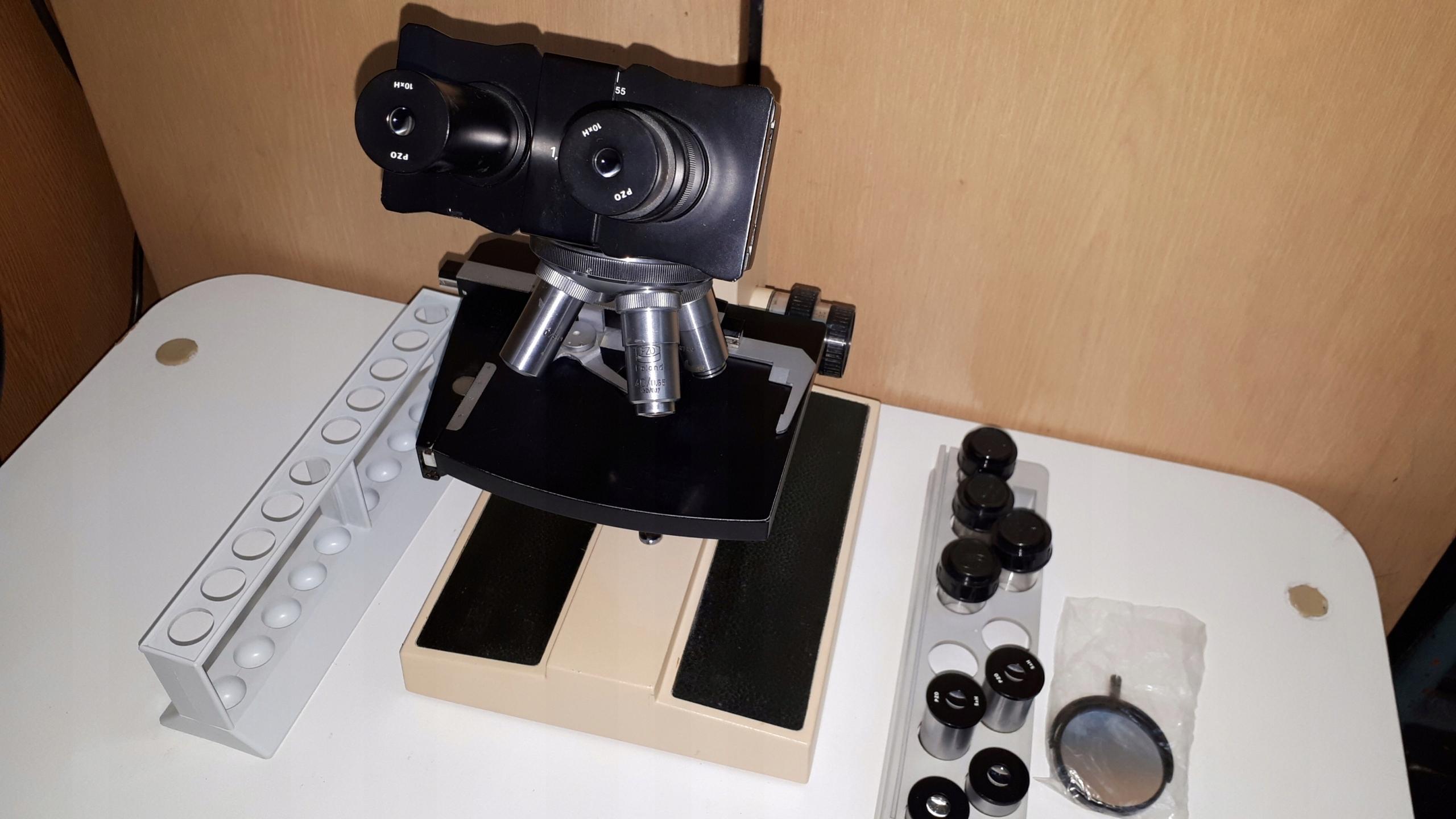 Mikroskop biologiczny studar e oficjalne archiwum