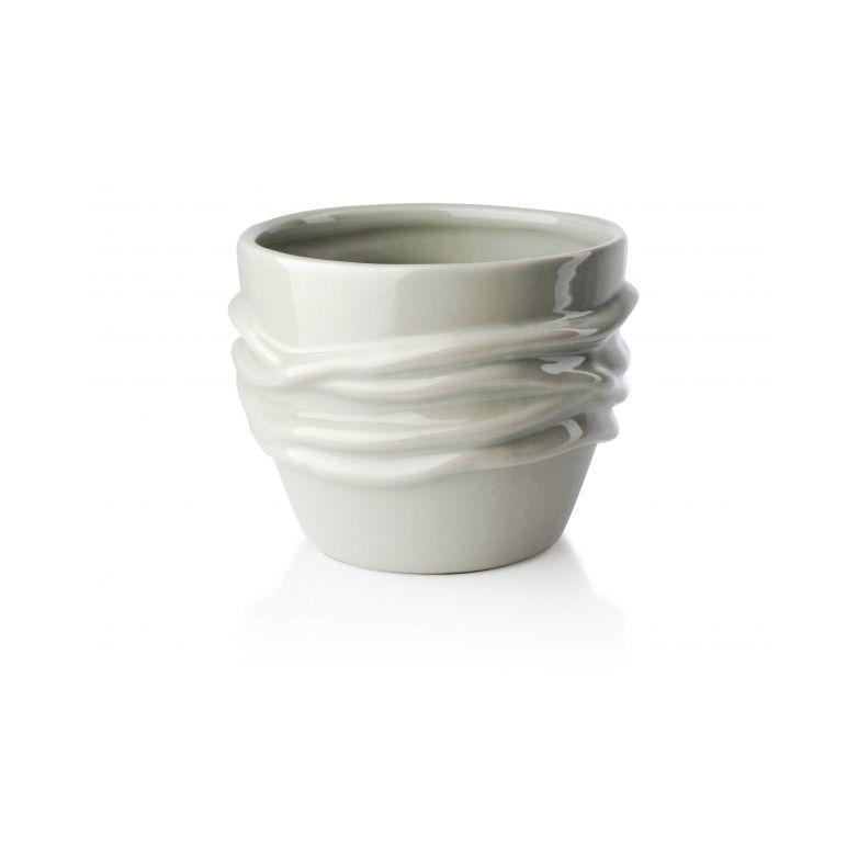 Doniczka Donica Na Zioła Ceramiczna Beżowa Mondex