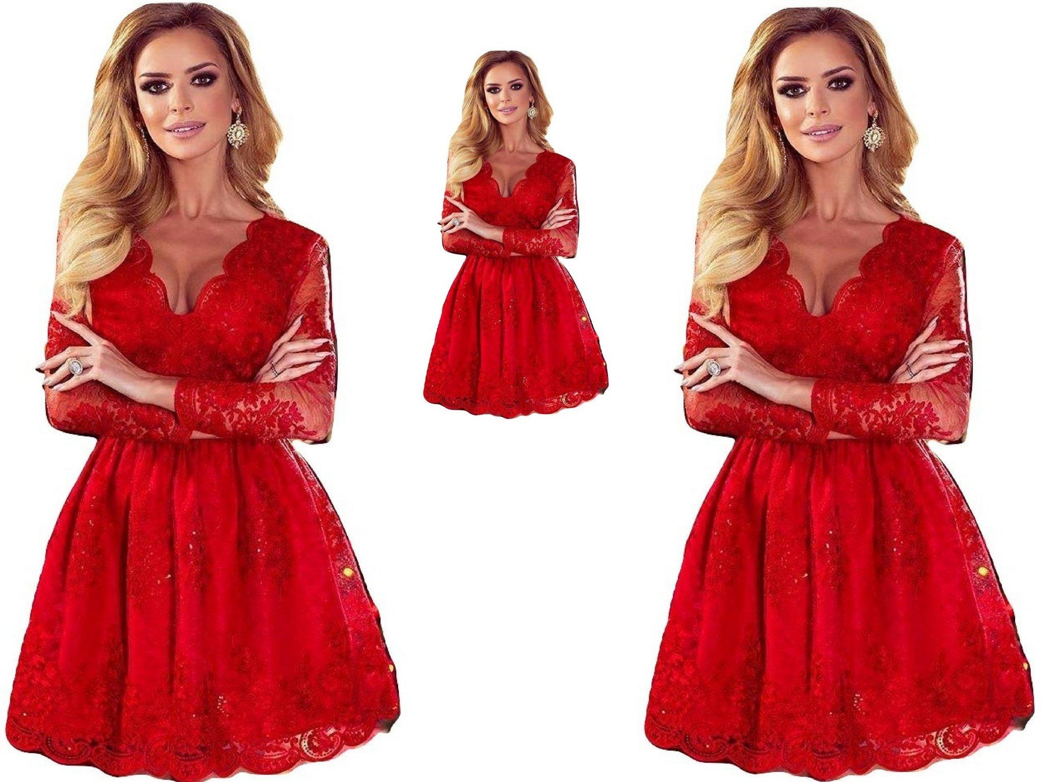 5d9141c538 Sukienka Amelia koronkowa rozkloszowana koronka - 7085407128 ...