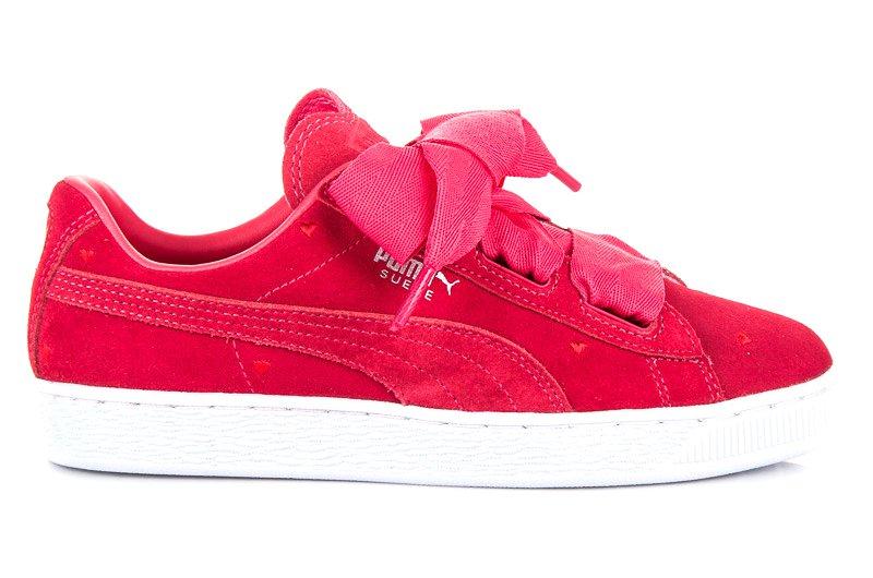 Różowe Skórzane Buty Damskie Sportowe Puma r.39