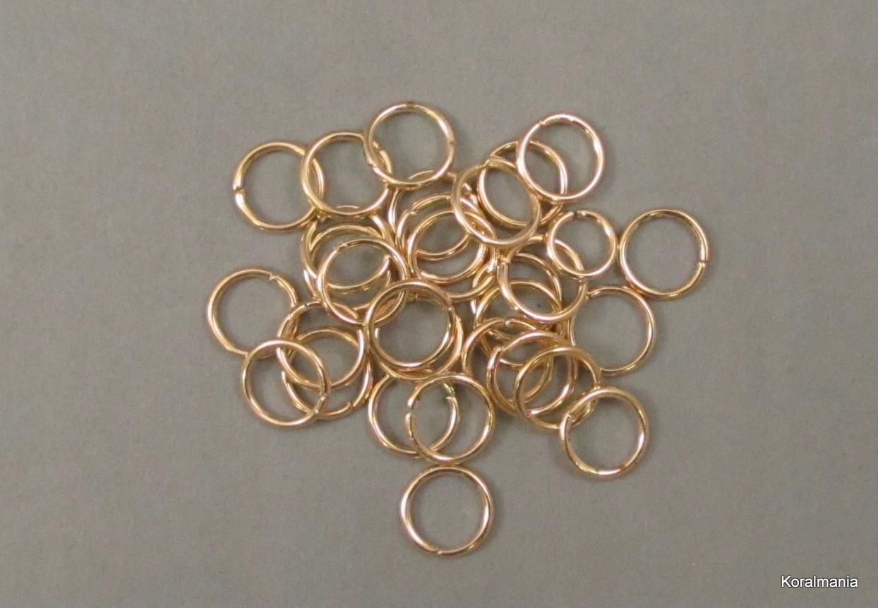 KÓŁKA OTWARTE 10 mm, kolor real gold 30 szt.