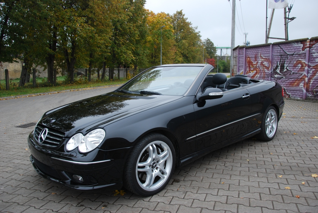 mercedes clk 55 amg lift cabrio full opcja okazja. Black Bedroom Furniture Sets. Home Design Ideas