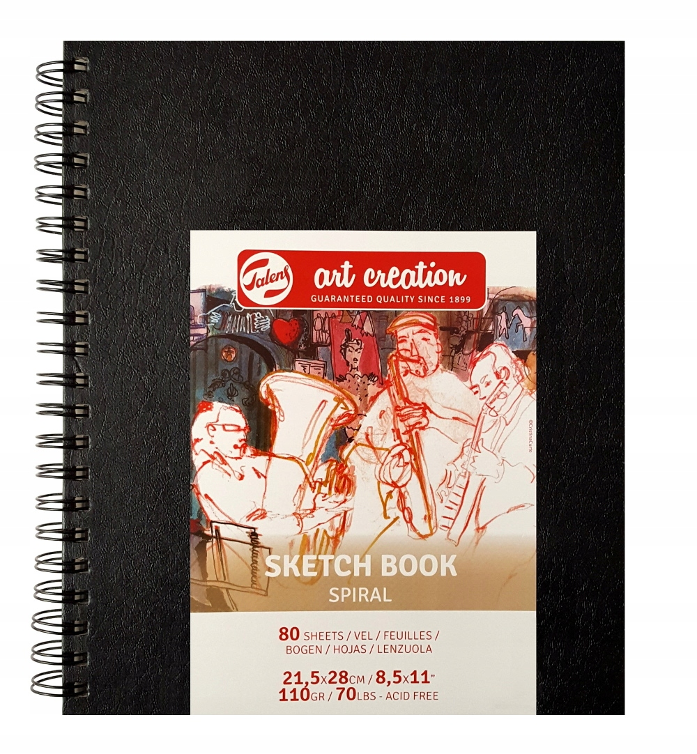 SZKICOWNIK A4 *kredki ołówek akwarela - SPIRALA