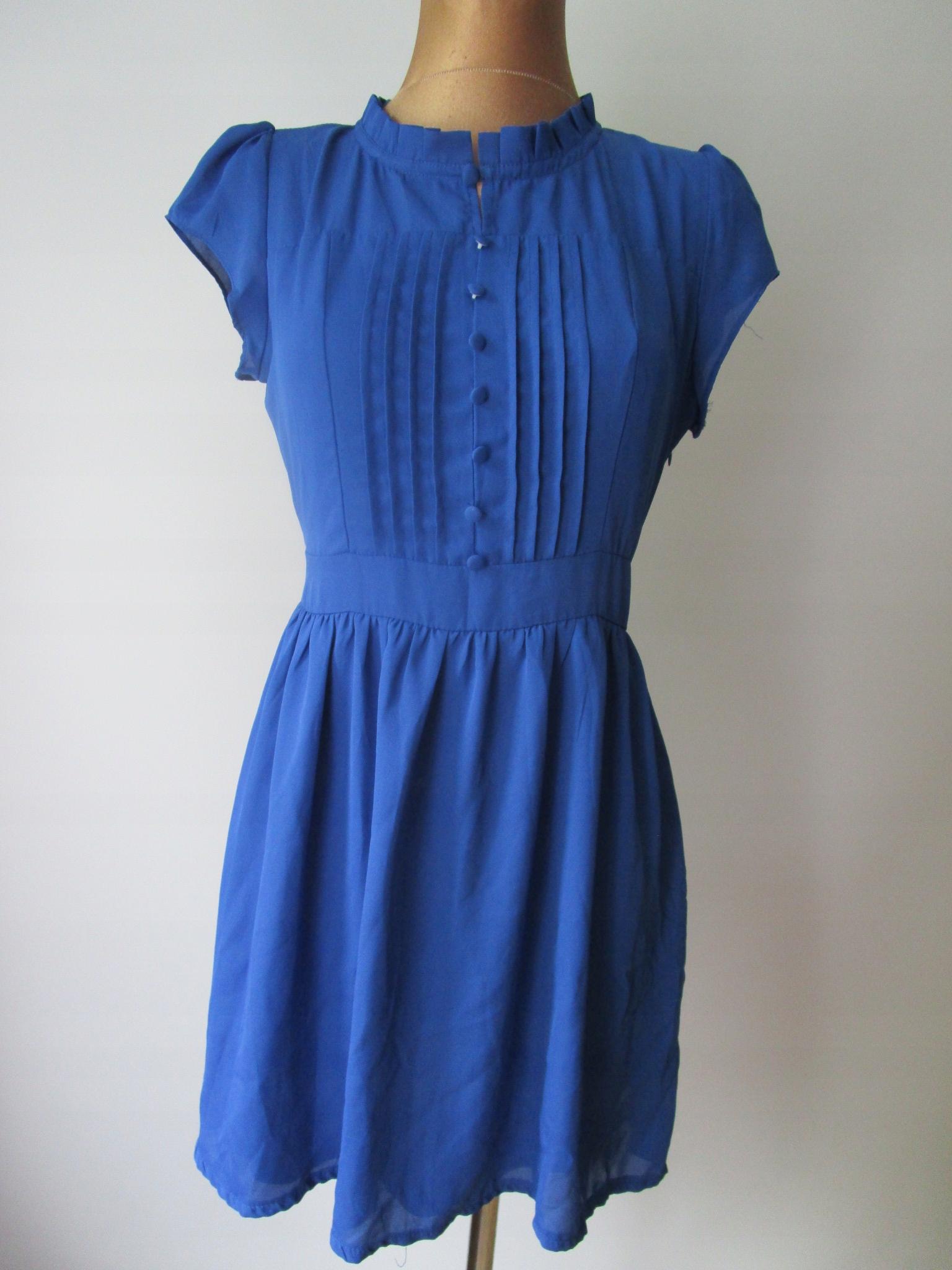 821dc755ca 38 40 Śliczna sukienka TENKI kobaltowa -A2 - 7487688099 - oficjalne  archiwum allegro