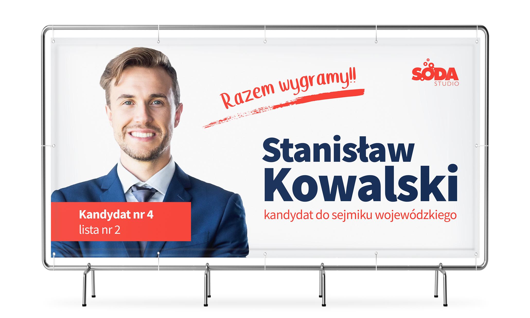 Baner Wyborczy 200x100cm Projekt Gratis Banery 7558452960