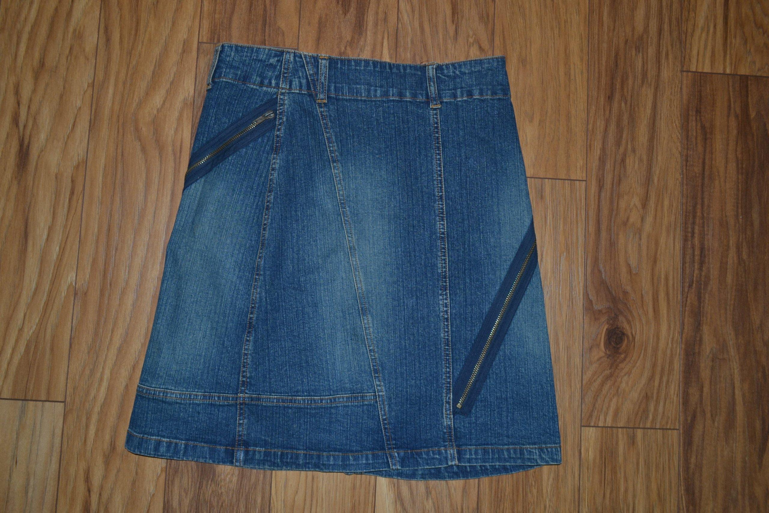 DENIM jeansowa spódnica 36S wyższy stan