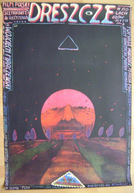DRESZCZE -grafika SAWKA -1981 PLAKAT FILMOWY