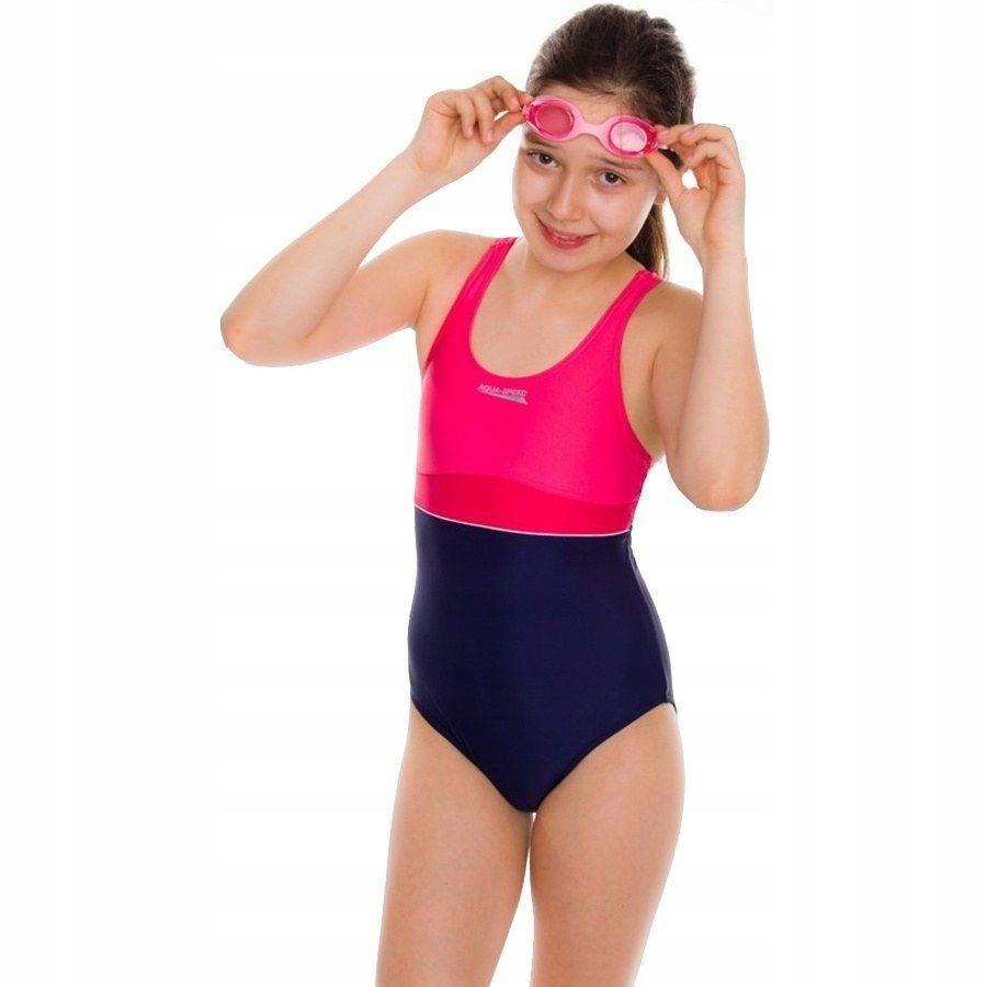 cb0756674c2f8f Kostium strój kąpielowy dla dziewczynki Aqua 164 c - 7248068151 ...