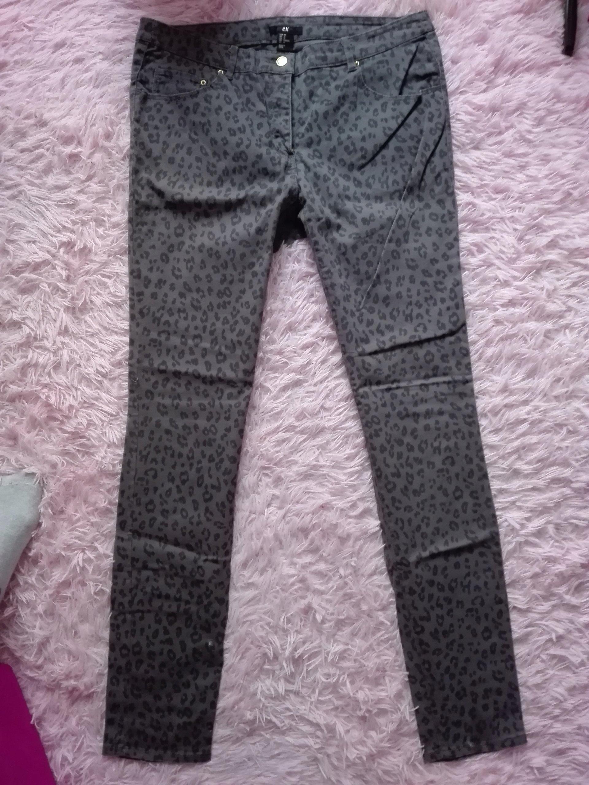 f6b98ae4008c H M spodnie jeans rurki cętki 40 42 - 7553006158 - oficjalne ...