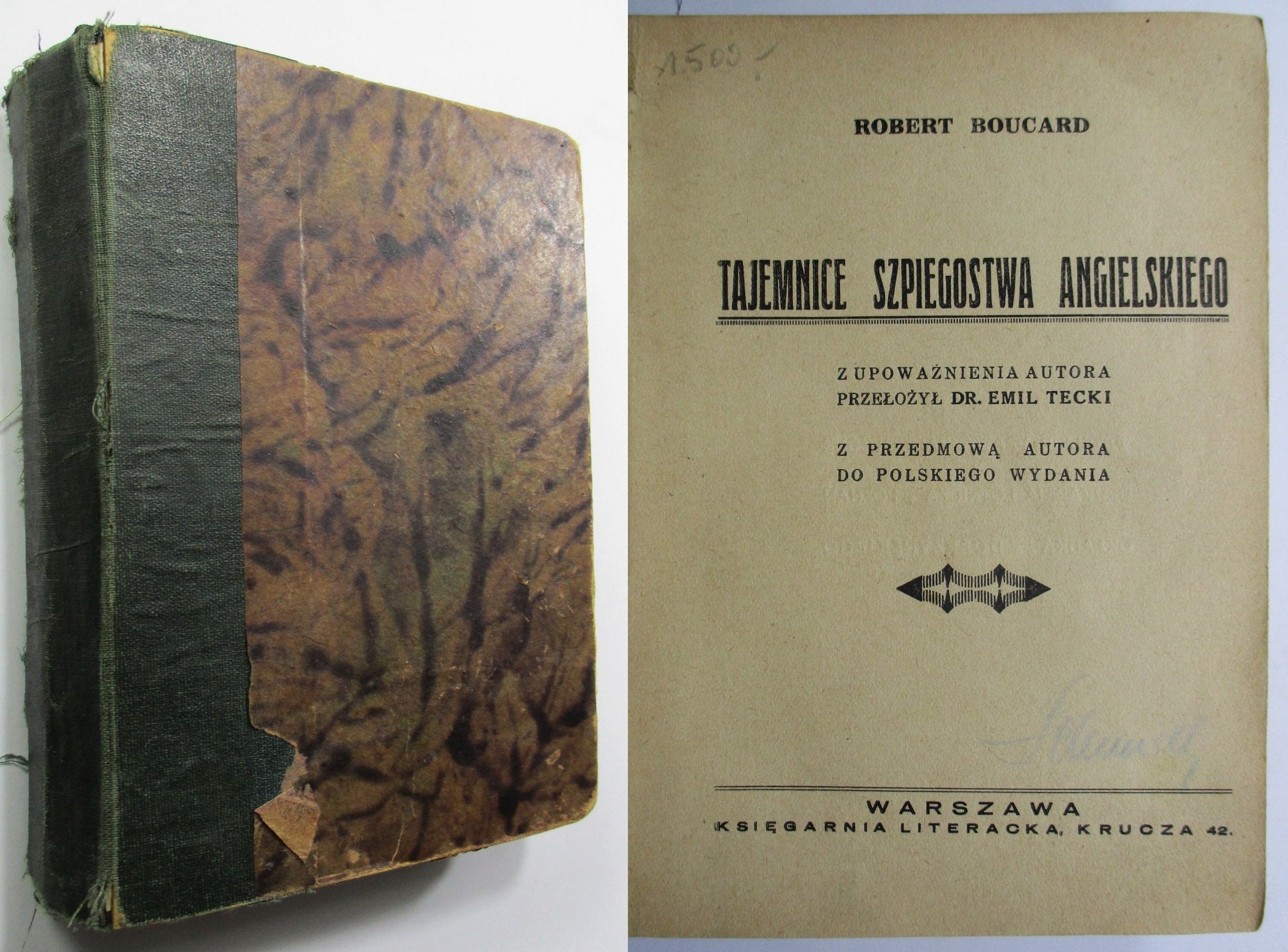 Tajemnice szpiegostwa angielskiego, Boucard, 1929