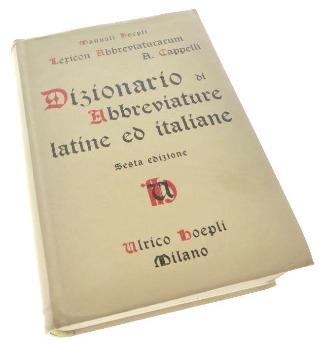 DIZIONARIO DI ABBREVIATURE Latine ed Italiane - 7066135134 ... 9eb385a906b9