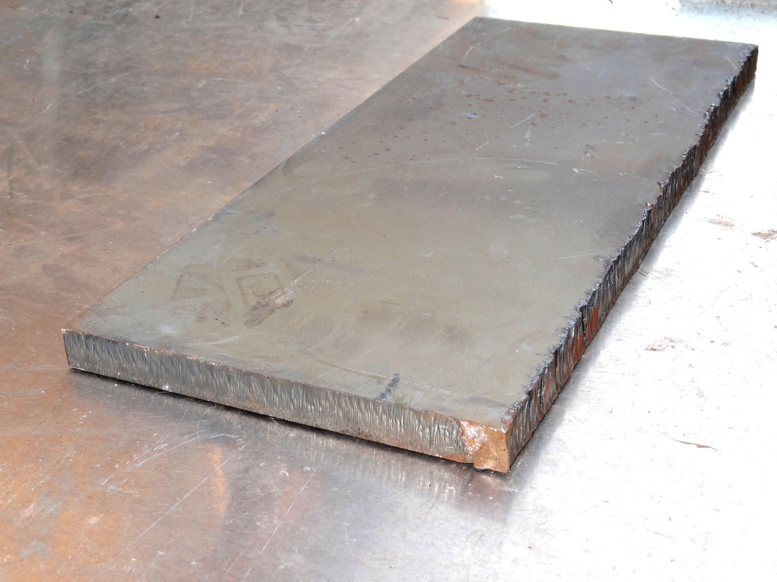 Blacha stalowa gruba płyta blok 520x210x20mm