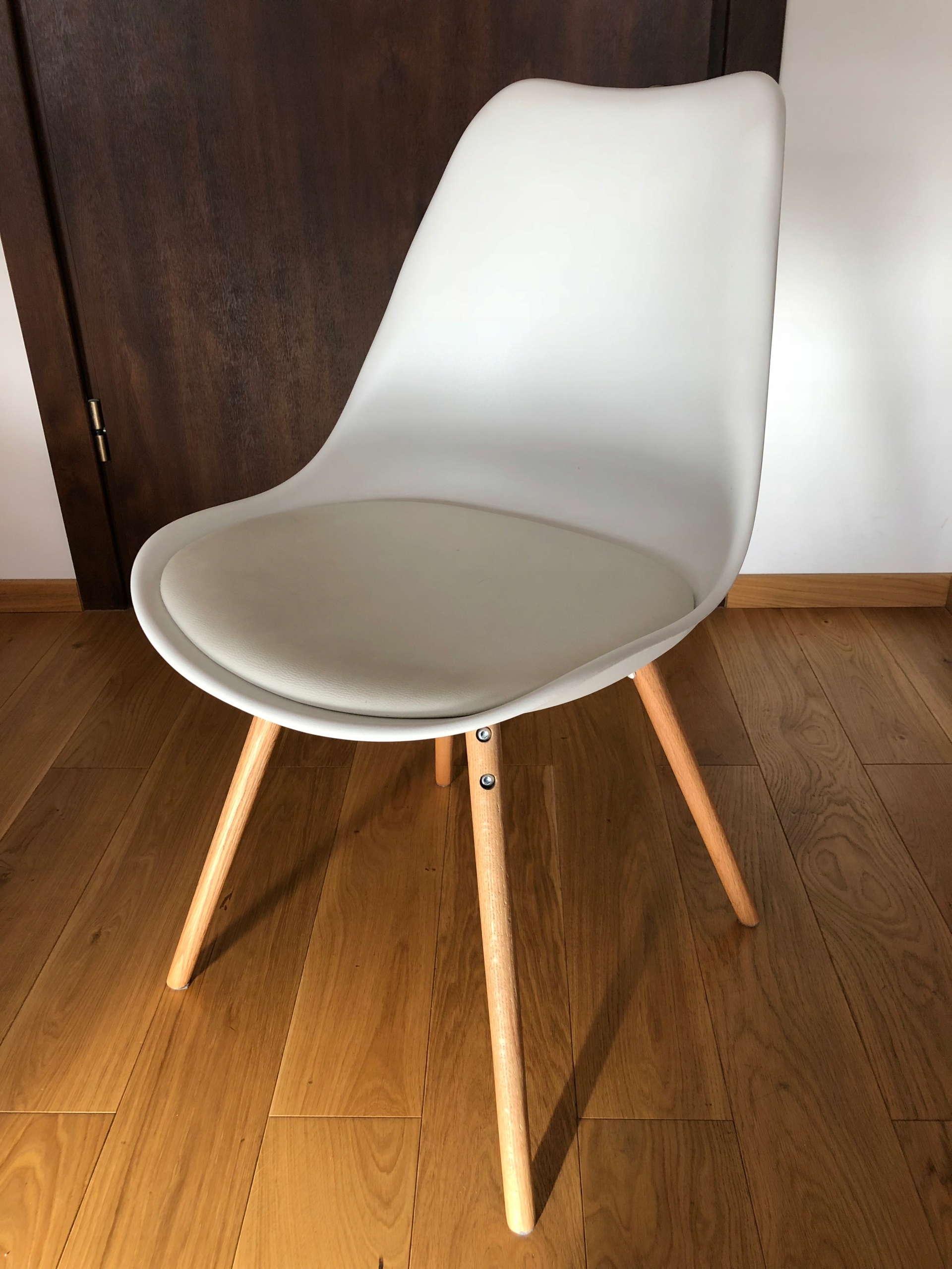 Komplet 4 Krzesla Jysk Kastrup Biale Dab Jadalnia 7635072171