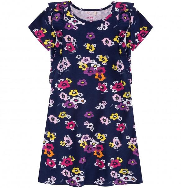 15f70ec588 ENDO Sukienka z falbankami dla dziewczynki (r.116) - 7038215137 ...