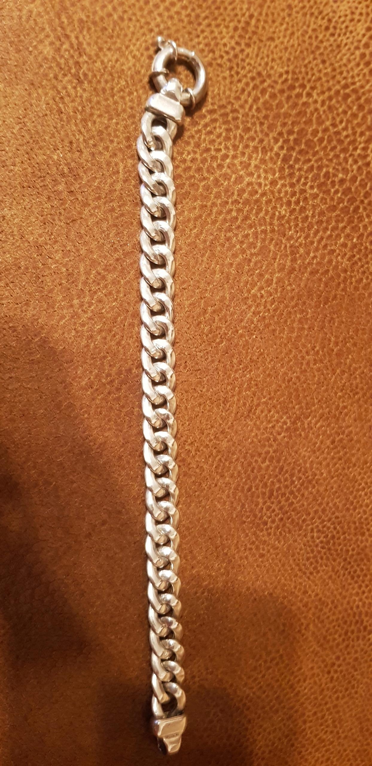 Bransoletka srebrna długość 21 cm próba 925