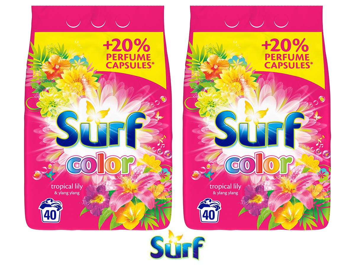 Inteligentny SURF 2x Proszek do prania Tropical2x40 prań ZESTAW - 7315932158 YP72