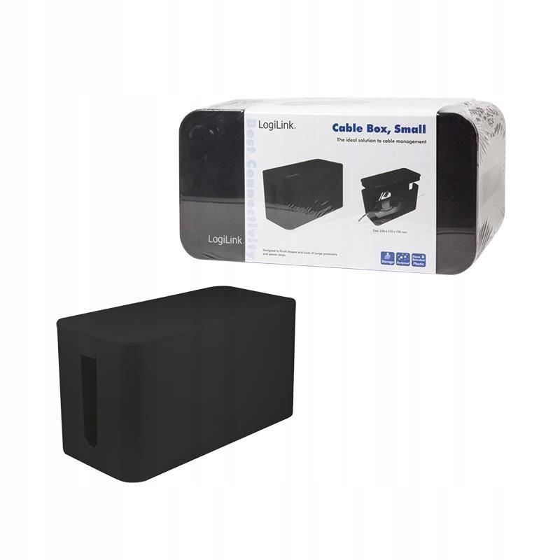 Organizer kabli LogiLink KAB0060 CableBox M, czarn
