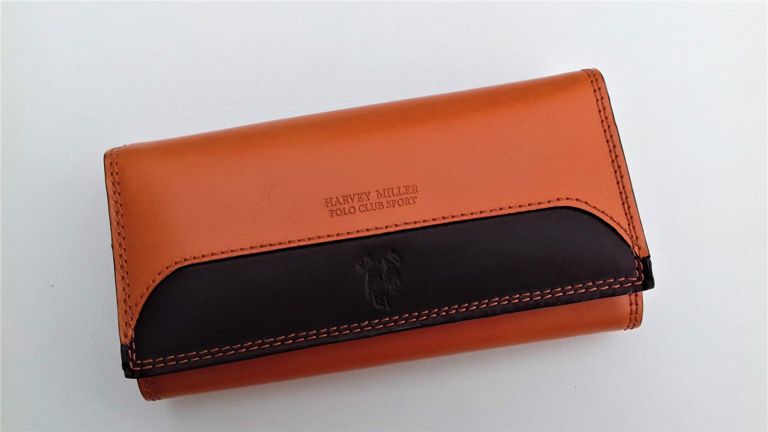 10d3b63b192b3 Portfel damski Harvey Miller pomarańczowy skórzany - 5925137889 ...