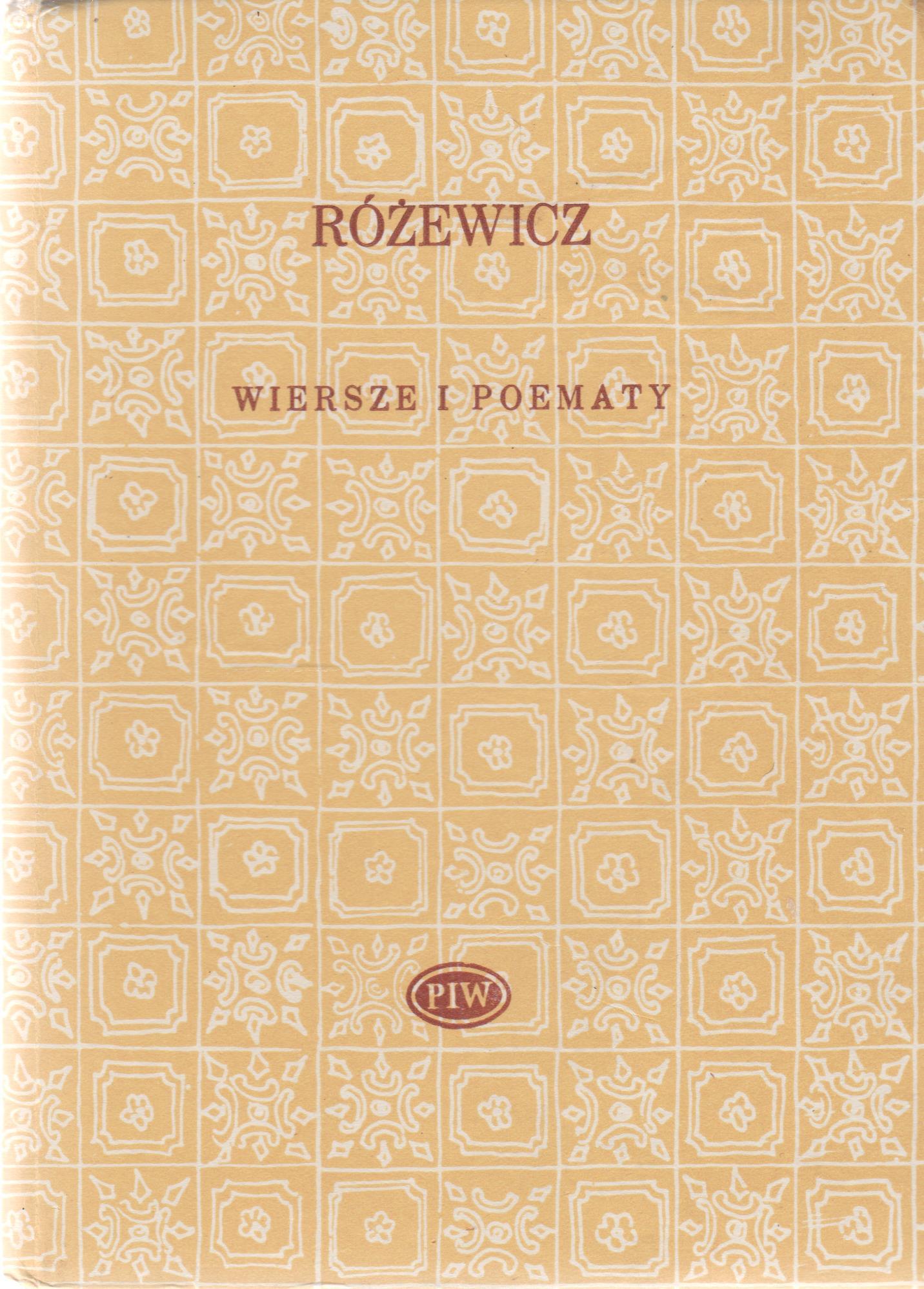 Wiersze I Poematy Tadeusz Różewicz 7317987825 Oficjalne