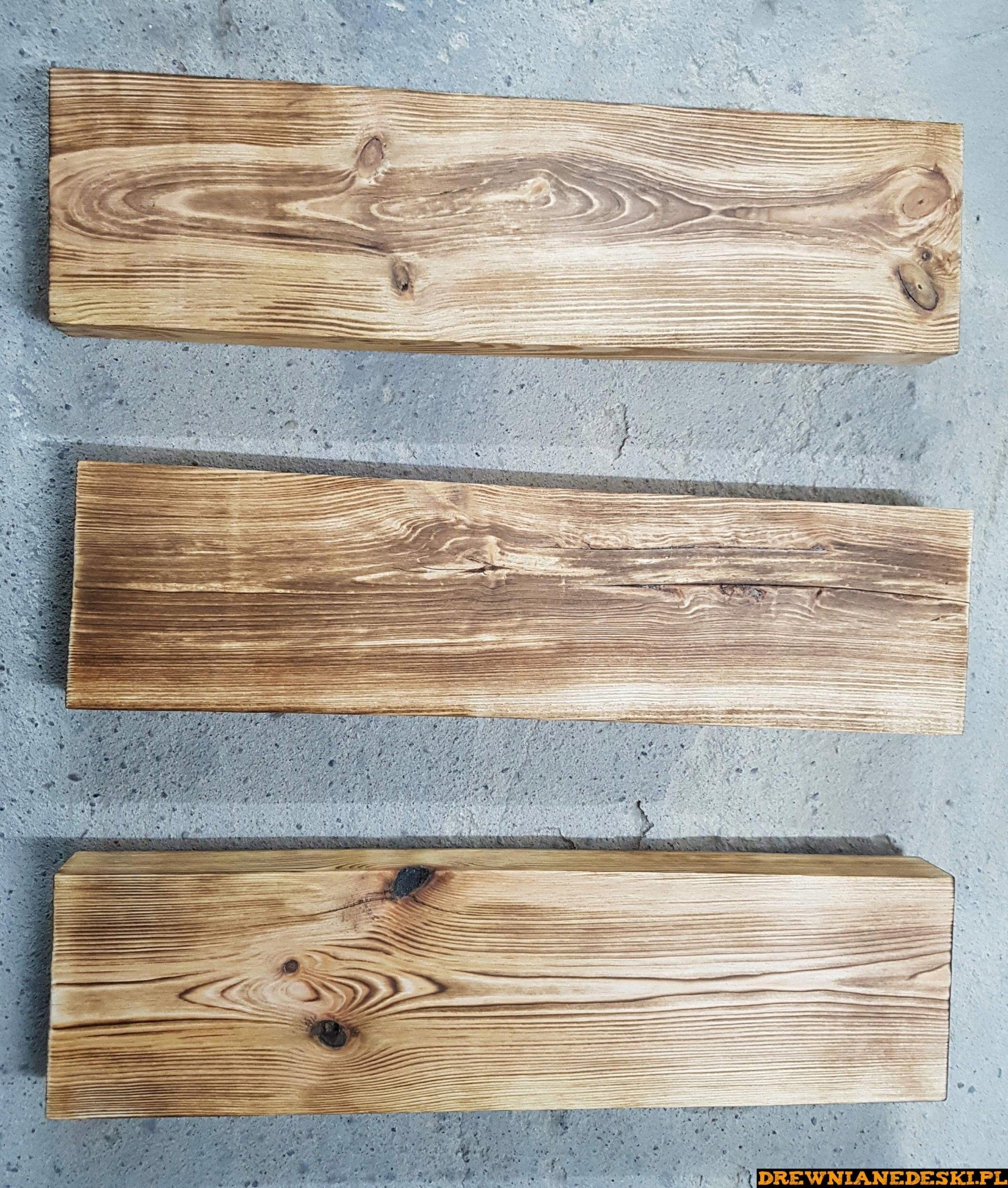 Grube Lite Półki Drewniane Postarzane 100 Cm