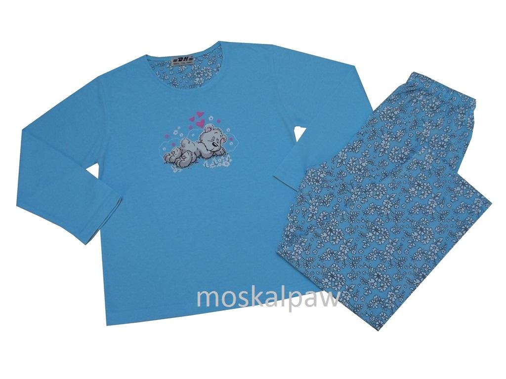af708c92fde9c4 Bawełniana piżama dziewczęca z długim rękawem 134 - 7470724849 ...