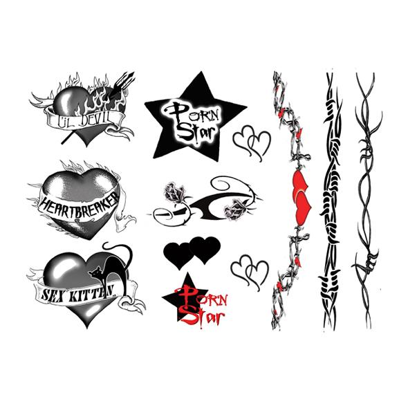 Naklejki Na Ciało Tatuaż Napisy Wzory Różne 40szt