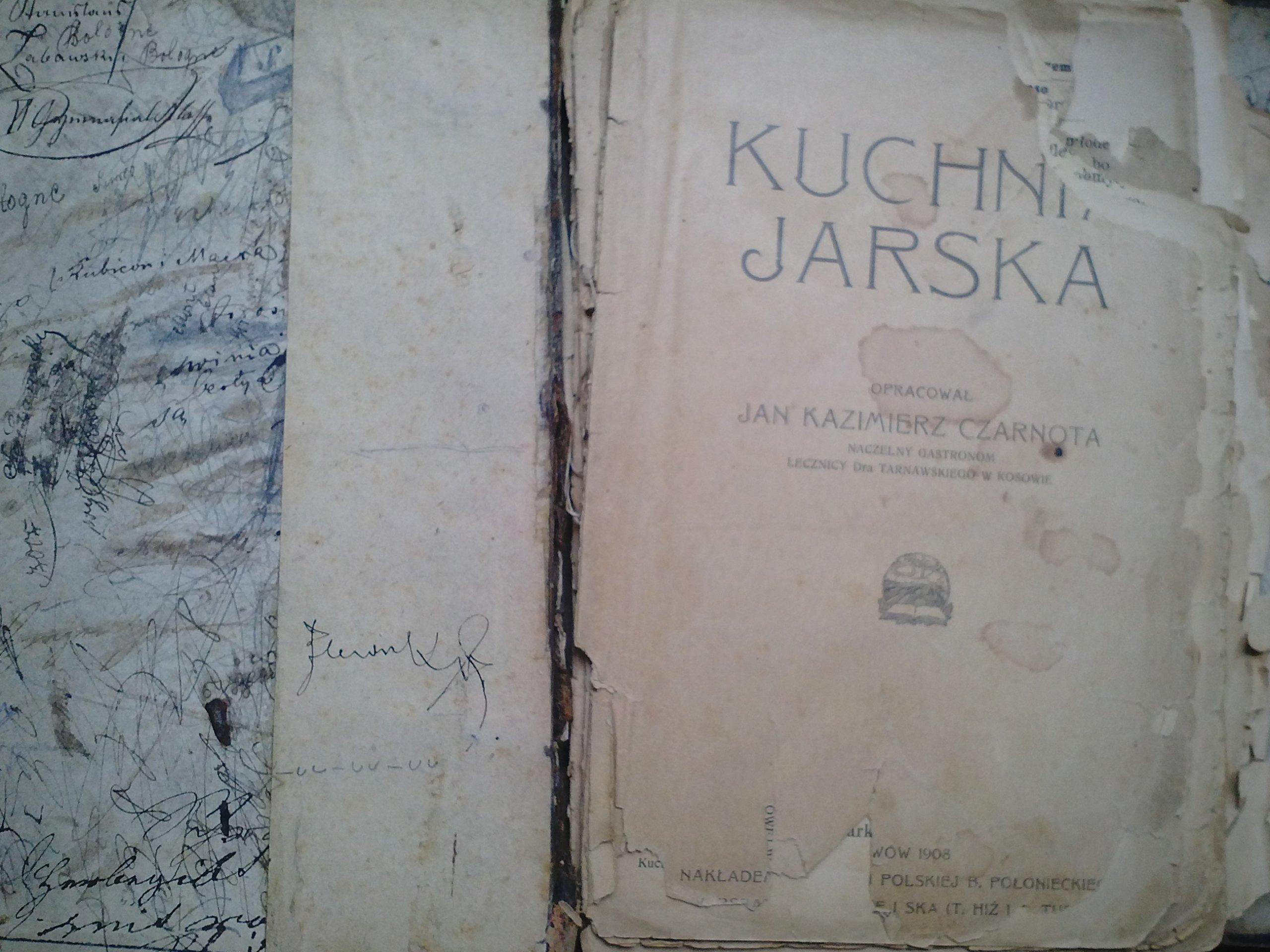 Kuchnia Jarska Jan Kazimierz Czarnota 1908 7166478474 Oficjalne