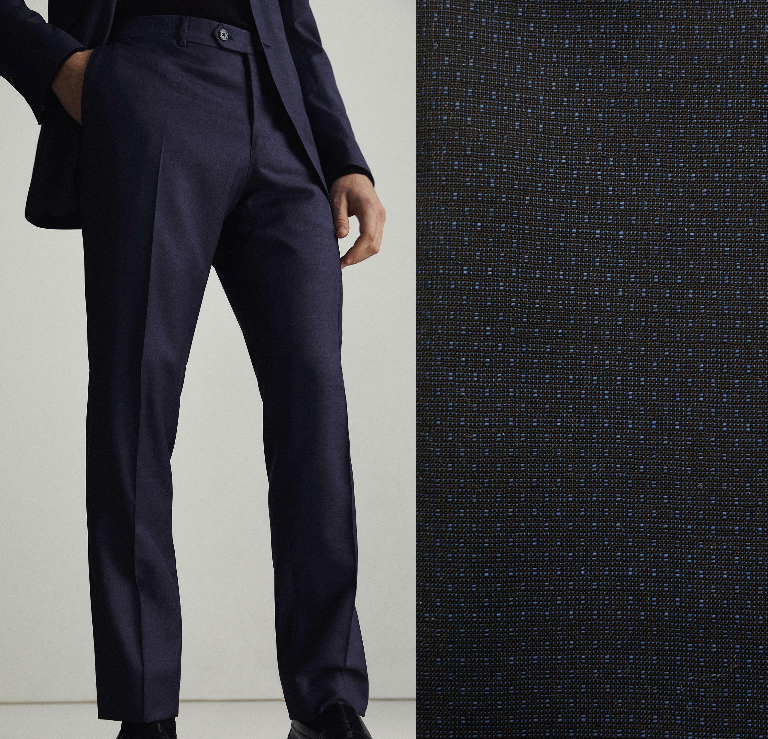 2749ff27e9 Massimo Dutti wełniane spodnie garniturowe 46 - 7172114519 ...